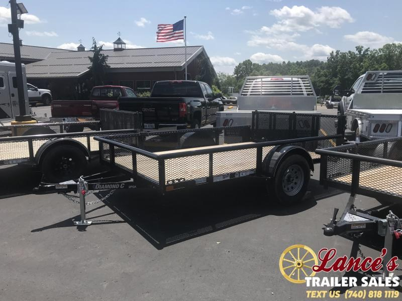 "2019 Diamond C 2PSA 77""x10' Utility Trailer K1210040"