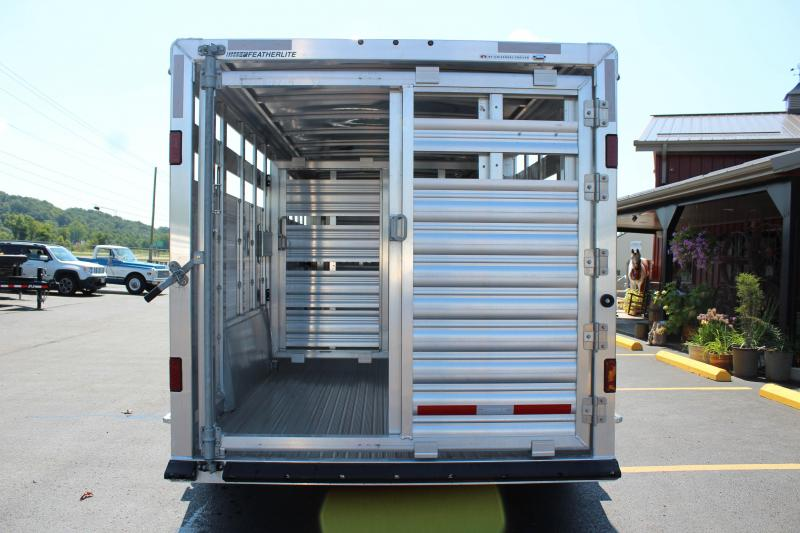 2019 Featherlite 8127 7' Show Cattle Trailer w/ Stainless Ramp/Nose