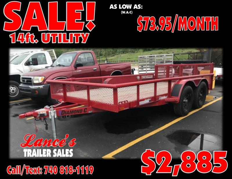 2019 Diamond C 14' Utility Trailer