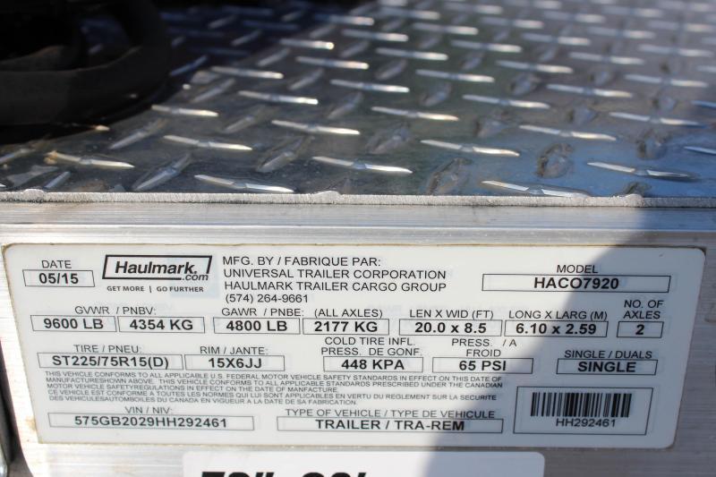 """2017 Haulmark """"HACO7920"""" 20' ALX Car Hauler"""