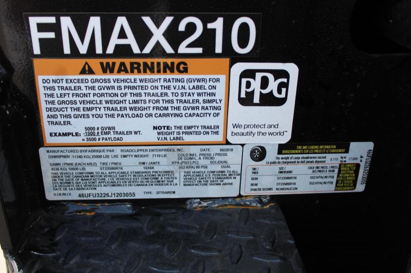 2018 Diamond C Trailers FMAX21032PT Equipment Trailer