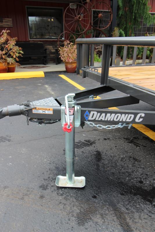 "2019 Diamond C 2PSA 77""x14' Side Load Utility Trailer"