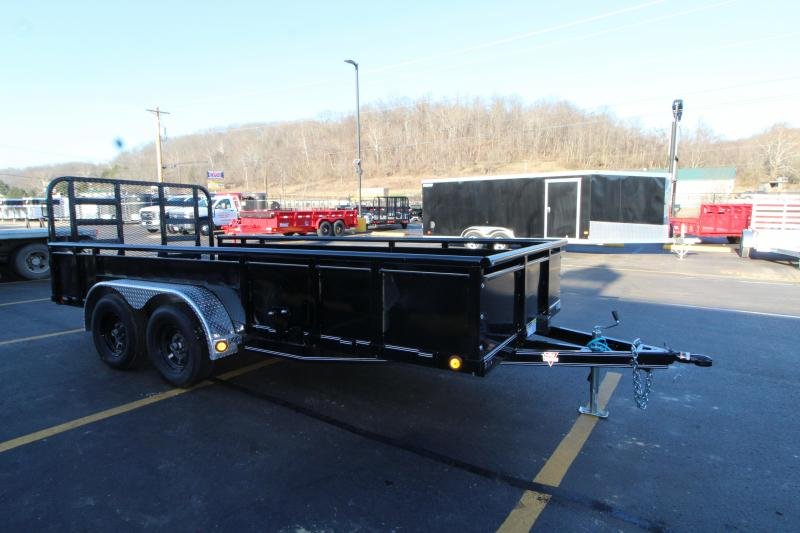 "2019 PJ 83""x16' Heavy Duty Fold Up Gate Utility Trailer"
