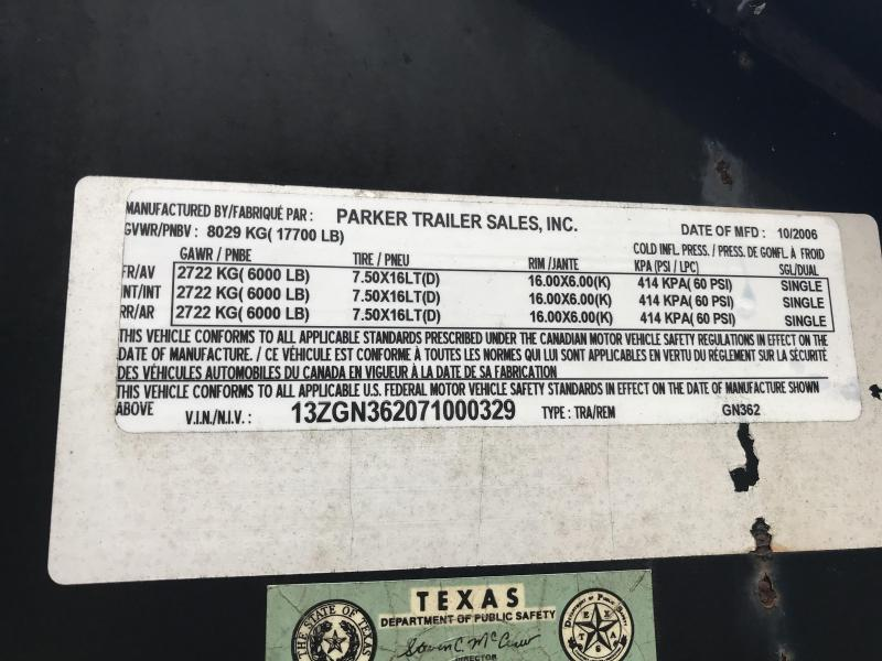 "2006 Parker 96""x36' Used Equipment Trailer 71000329"