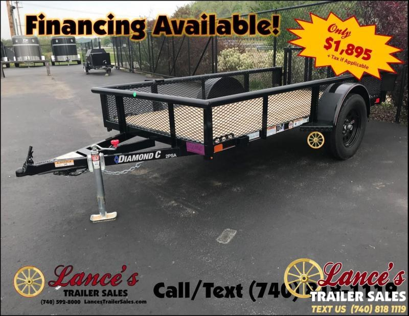 "2019 Diamond C 2PSA 60""x10' Utility Trailer K1209940"