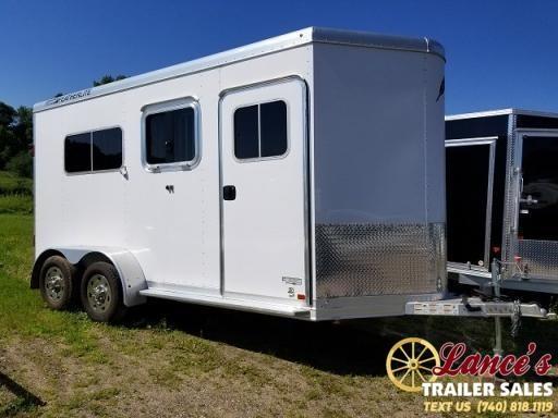 2015 FEATHERLITE 2 HORSE STRAIGHT LOAD TRAILER