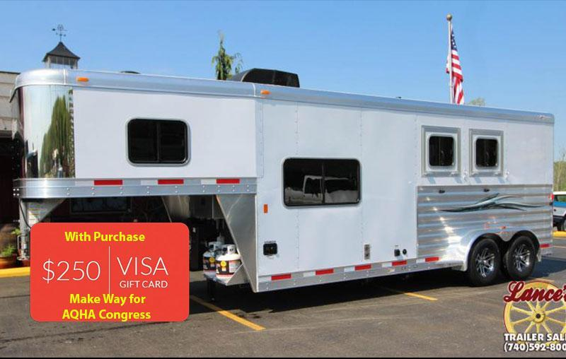 2018 Exiss Escape 7208 2 Horse Slant Load LQ