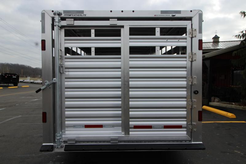 2019 Featherlite 8127 8x24 Show Cattle Trailer w/Stainless Nose/Ramp