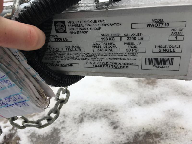"""2016 Haulmark ALX 77""""x10' Aluminum Utility Trailer FH292248"""