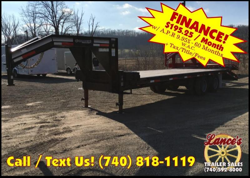 2018 Golden 25' 10K Gooseneck Equipment Trailer JE072369