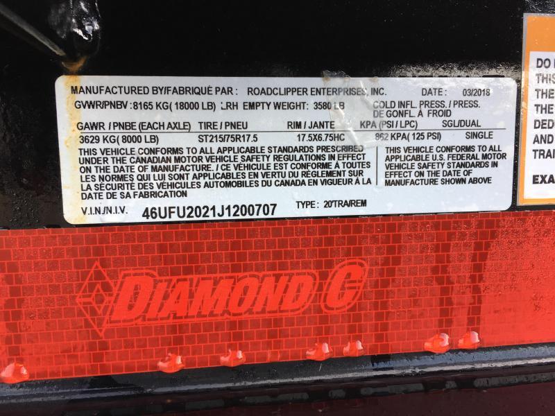 """2018 Diamond C 48HDT 82""""x20' Equipment Tilt Trailer J1200707"""