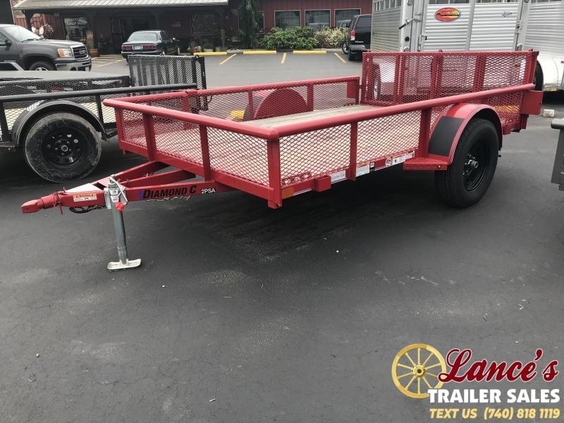 "2018 Diamond C 2PSA 77""x10' Utility Trailer K1210037"