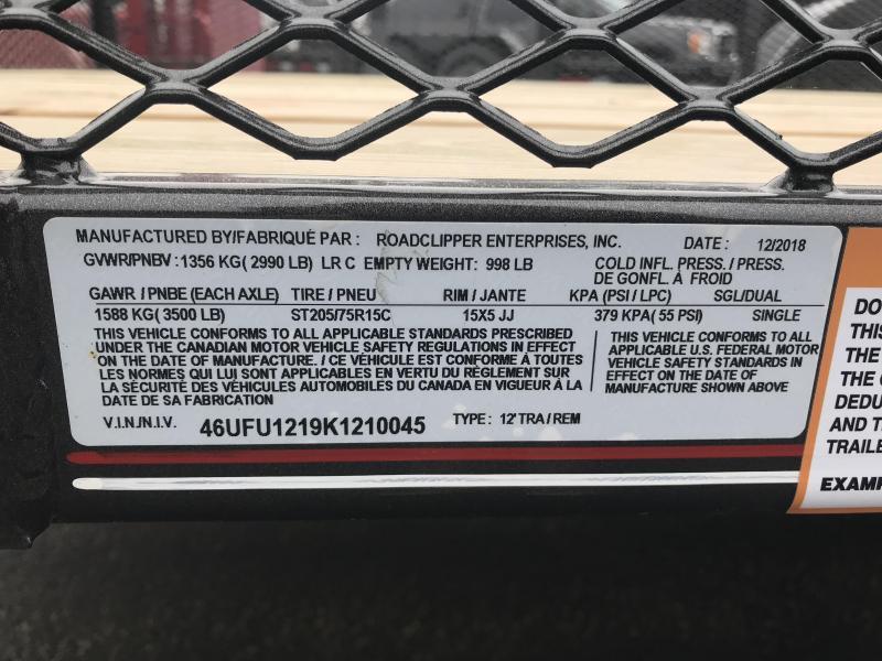 "2019 Diamond C 2PSA 77""x12' Utility Trailer K1210045"