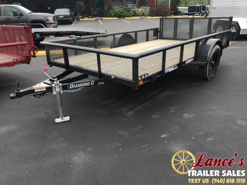 "2019 Diamond C 2PSA 77""x12' Utility Trailer K1210045"