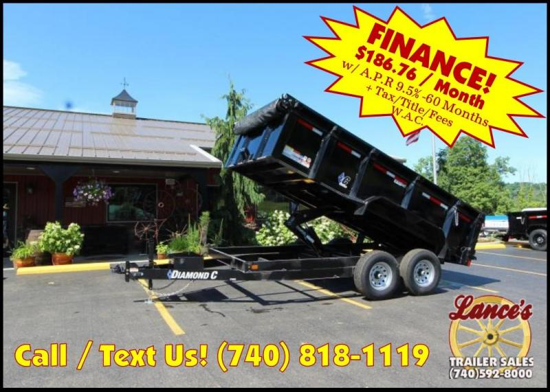 "2018 Diamond C 82""x14' Commercial Grade Dump Trailer J1202384"
