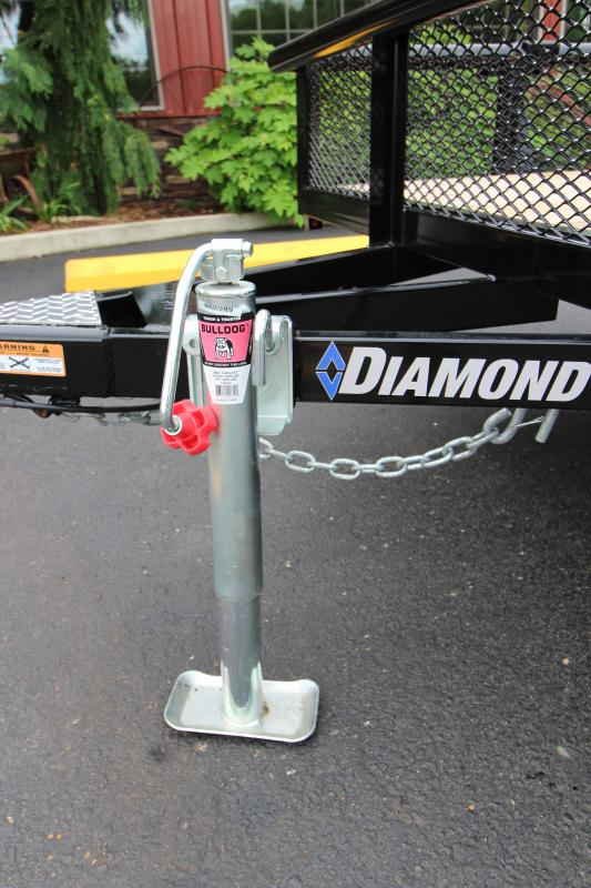 "2018 Diamond C 2PSA 77""x12' Utility Trailer"