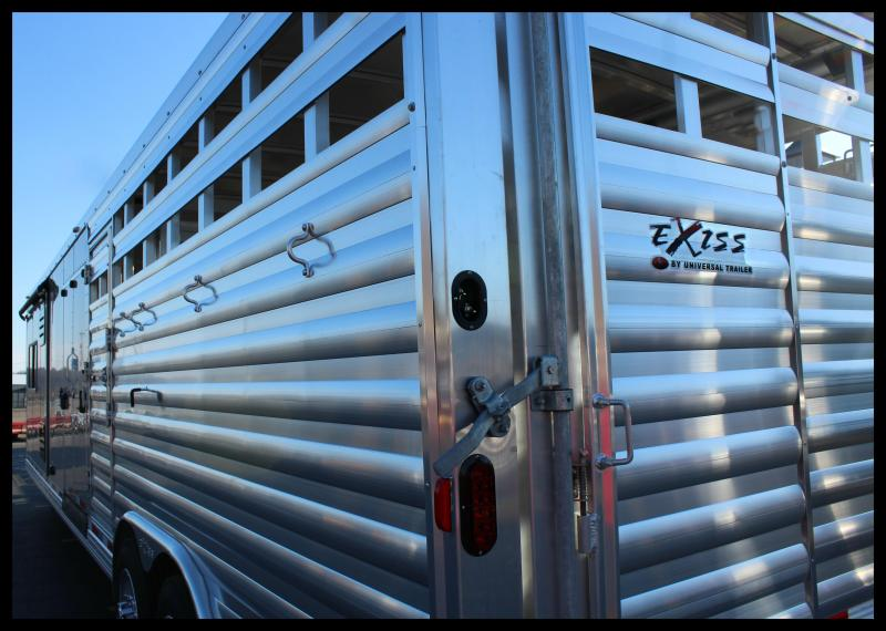 "2018 Exiss ""STC8034LQ"" Stock Combo Horse Trailer"