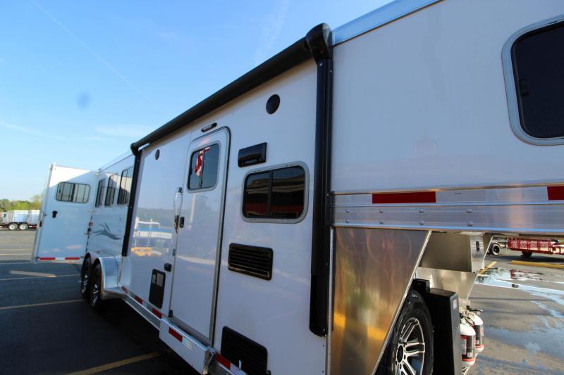 2018 Exiss Escape 7308 3 Horse Slant Load LQ