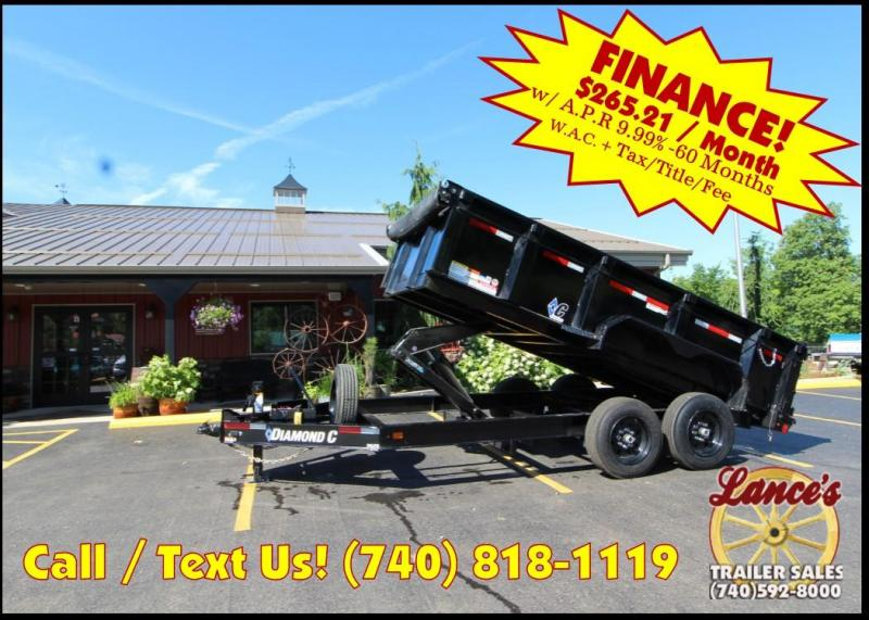 "2018 Diamond C 82""x14' Heavy Duty Dump Trailer J1201765"