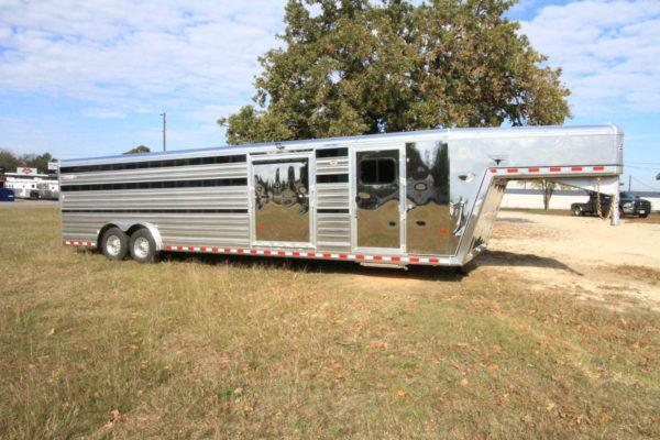 2019 Hart LoPro Expo 30' GN Stock Trailer w/ 4' DR