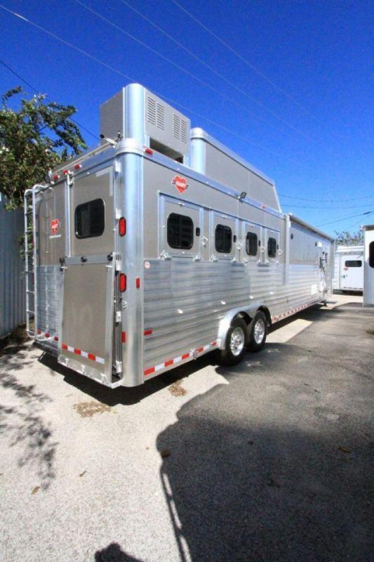 2017 Hart Tradition 4 Horse 16' SW LQ 4 Horse Slant Load Gooseneck Horse Trailer With Living Quarters