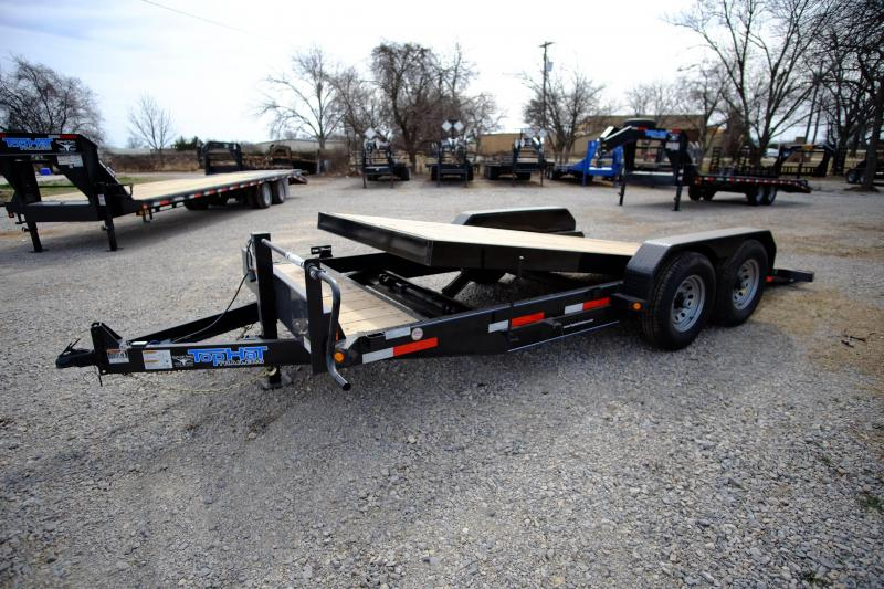 2017 Top Hat Trailers 20 BP Tilt Utility Flatbed Trailer