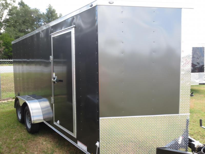 7x16 Tandem Axle Enclosed Cargo Trailer w/sidevents