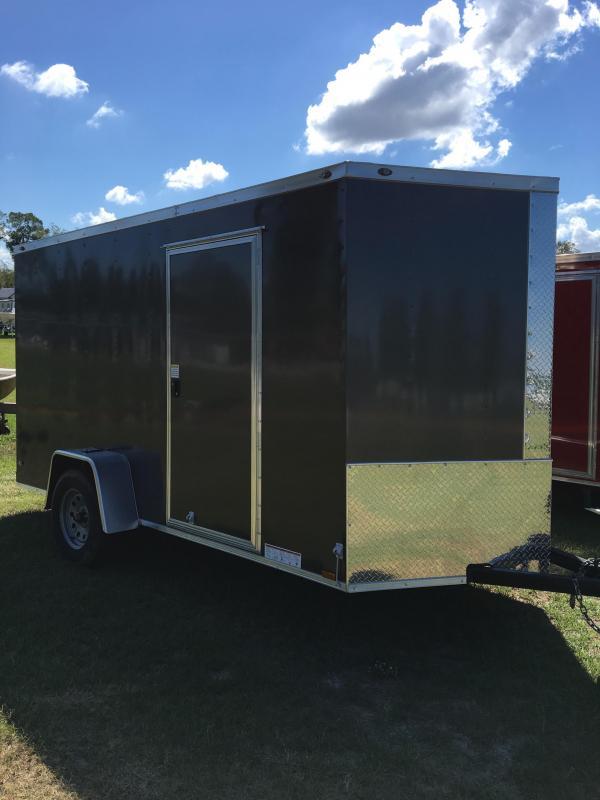 6X12 Single Axle Enclosed Cargo Trailer CG