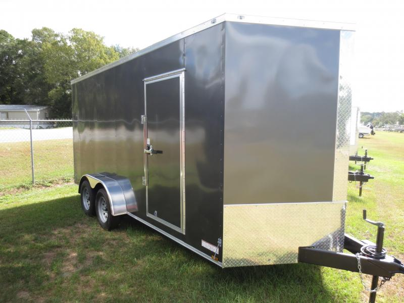 7x16 Tandem Axle Enclosed Cargo Trailer 7' Int Ht