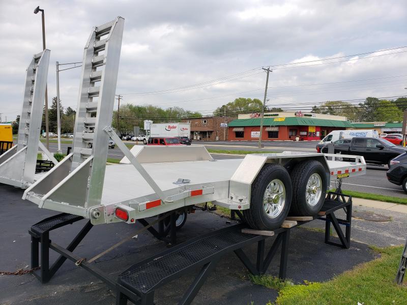 2019 Aluma 8218-14K Aluminum Equipment Trailer with Spare mounted 2018104