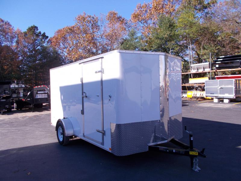 2019 Carry-On 7X14 Bull Nose Enclosed Cargo Trailer 2019640