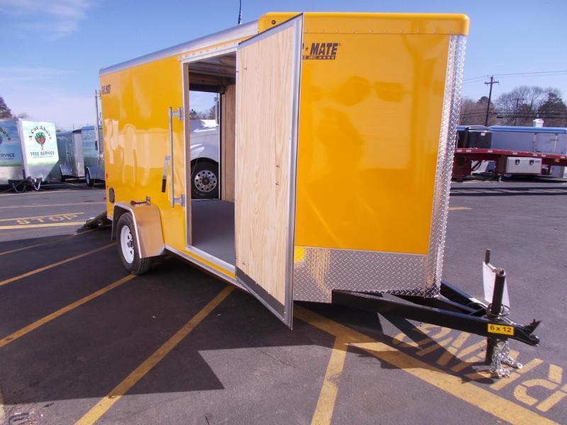 2019 Car Mate Trailers 6x12 V-Nose Advantage Enclosed Cargo Trailer 2020425