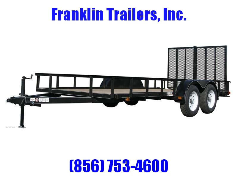 2019 Carry-On 6X12 7000 lbs. GVWR 6 ft. Tandem Wood Floor Utility Trailer 2020728