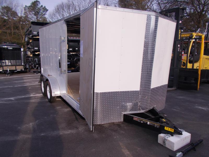 2019 Carry-On 7X16 V-Nose Enclosed Cargo Trailer 2020344
