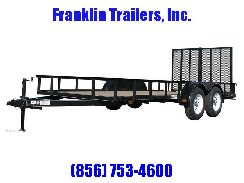2019 Carry-On 6X14 7000 lbs. GVWR 6 ft. Tandem Wood Floor Utility Trailer 2020735