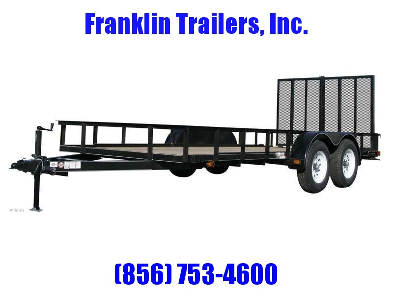 2019 Carry-On 6X14 7000 lbs. GVWR 6 ft. Tandem Wood Floor Utility Trailer 2020735