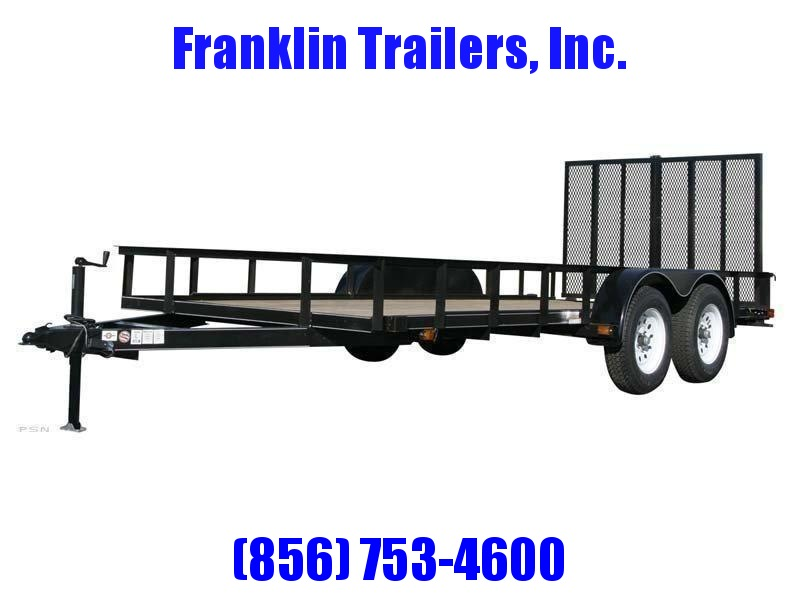 2020 Carry-On 6X14 7000 lbs. GVWR 6 ft. Tandem Wood Floor Utility Trailer 2020928