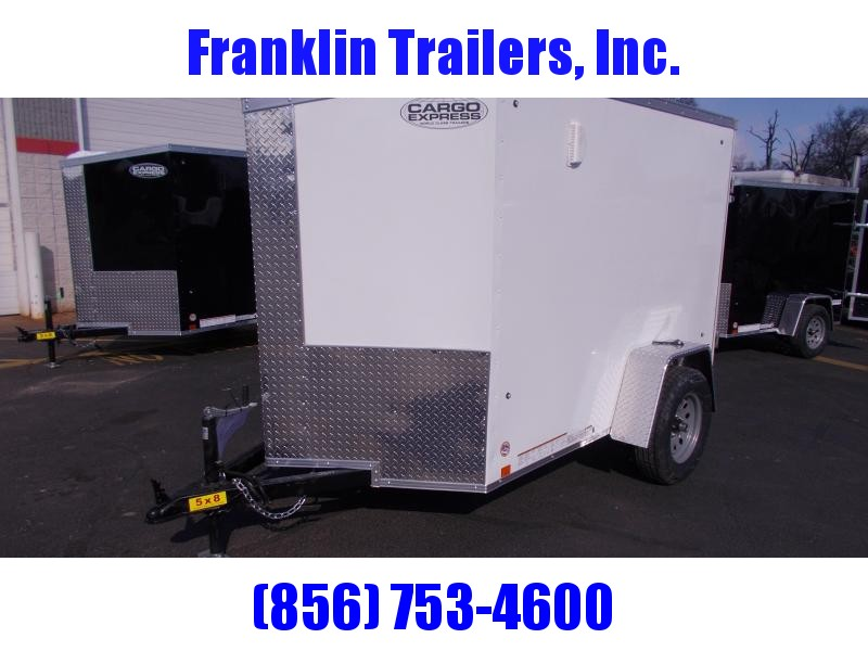 2020 Cargo Express 5x8 V-Nose Ramp Door Enclosed Trailer 2020290