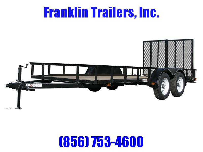 2019 Carry-On 6X14 7000 lbs. GVWR 6 ft. Tandem Wood Floor Utility Trailer 2020733