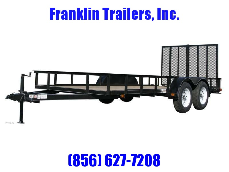 2019 Carry-On 6X12 7000 lbs. GVWR 6 ft. Tandem Wood Floor Utility Trailer 2020731