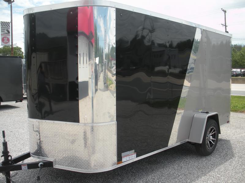 2019 Arising 6' X 12' 3K  Black/Beige Enclosed Motorcycle Cargo Trailer in Ashburn, VA