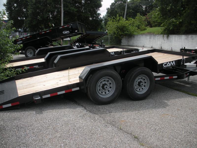 """2019 Cam Superline 81"""" X 18' Full Deck Tilt Trailer Equipment Trailer"""