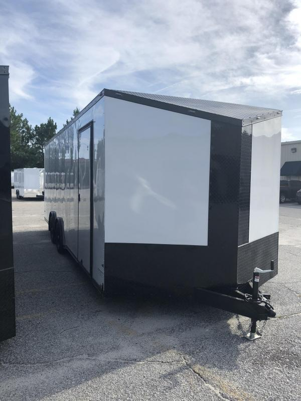2019 Anvil 8.5' X 24' X 7' Height 10K Torsion Spread Axle Car / Racing Trailer