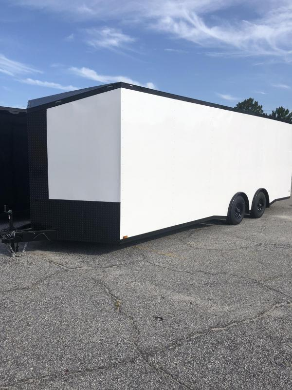 2019 Anvil 8.5' X 24' X 7' Height 10K Torsion Spread Axle Car / Racing Trailer