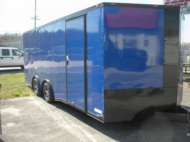 2019 Anvil 8.5' X 20' Black Trim Pepsi Blue Spread Axle Torsion 7K Car / Racing Trailer
