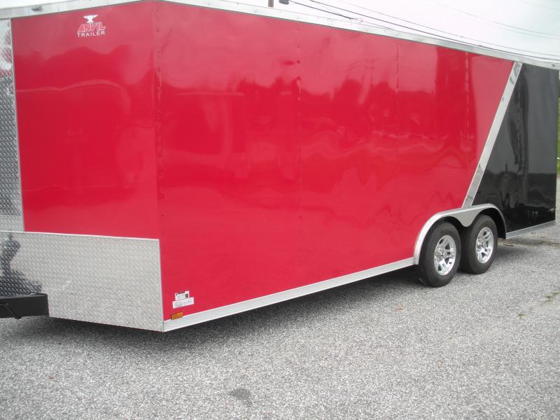 2019 Anvil 8.5' X 20' Black & Red w/ Aluminum Wheels 7K Car / Racing Trailer in Ashburn, VA