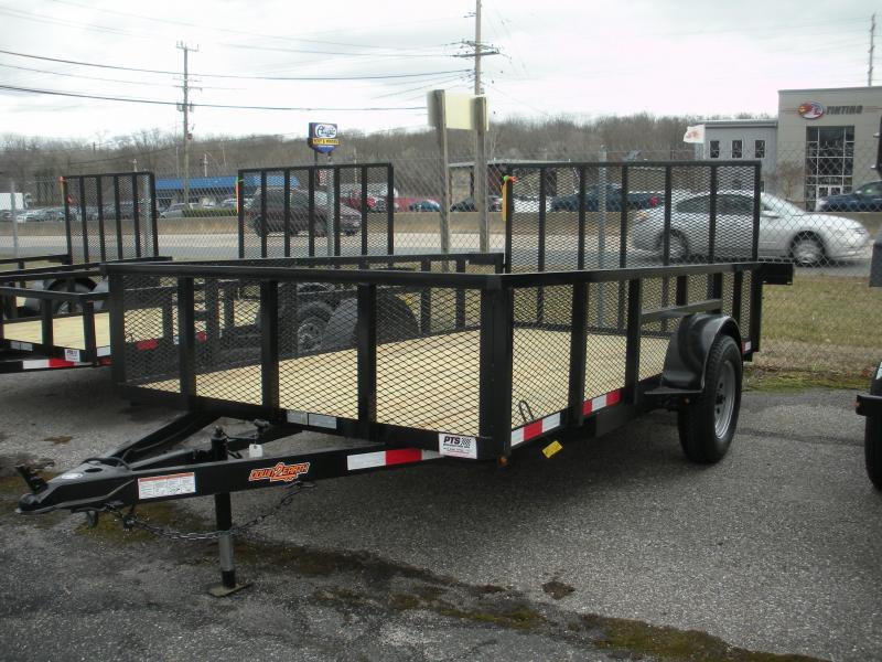 "2019 Down 2 Earth Trailers 76"" X 12' 3K with 24"" Mesh Sides Utility Trailer"