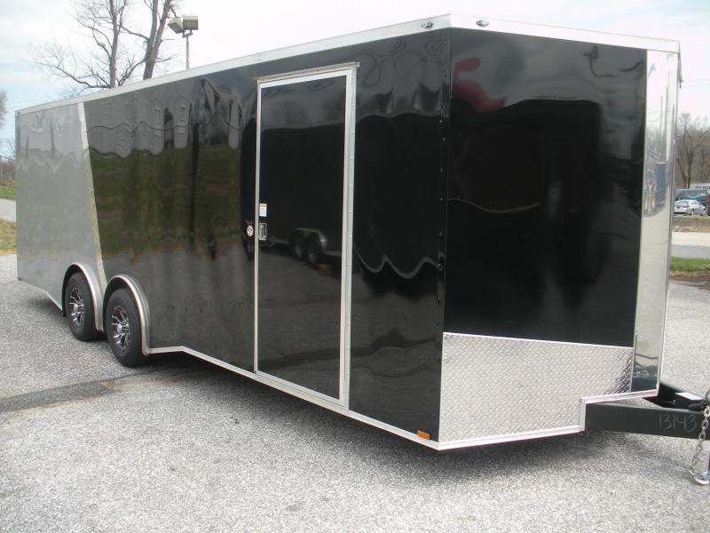 2019 Spartan 8.5' X 24' 10K Black & Silver w/ Slanted Chrome Trim Car / Racing Trailer