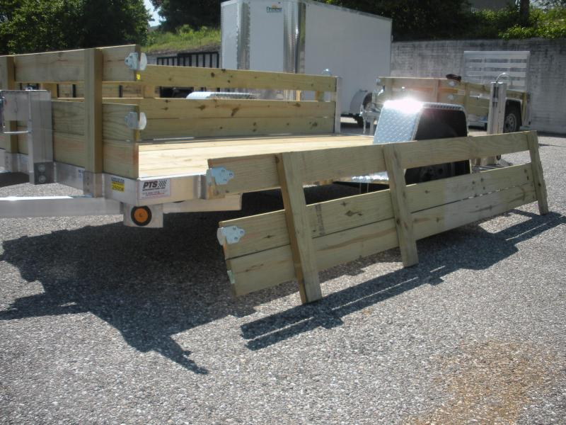 """2019 Quality Steel and Aluminum 62"""" X 10' Aluminum w/ Removable Wood Sides Utility Trailer"""