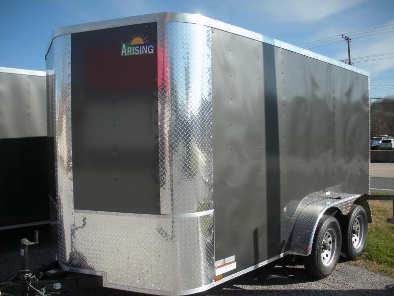2019 Arising 7' X 12' 7K  Enclosed Cargo Trailer with Rear Barn Doors in Ashburn, VA